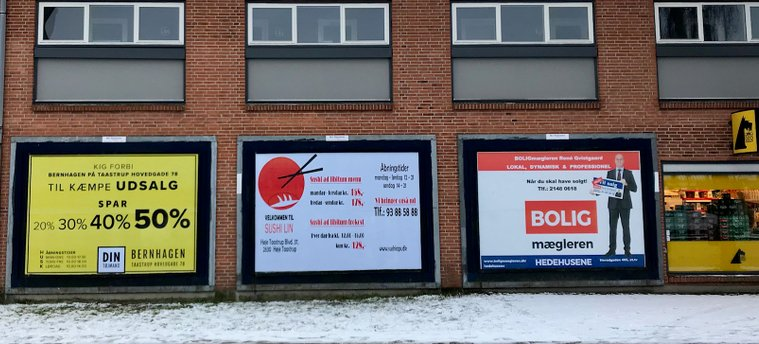 Outdoor Billboard i Hedehusene
